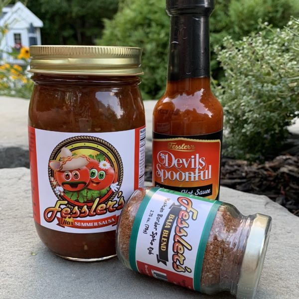 Fesslers-Hot-Sauce -Hot-Salsa-and-Baja-spice-blend