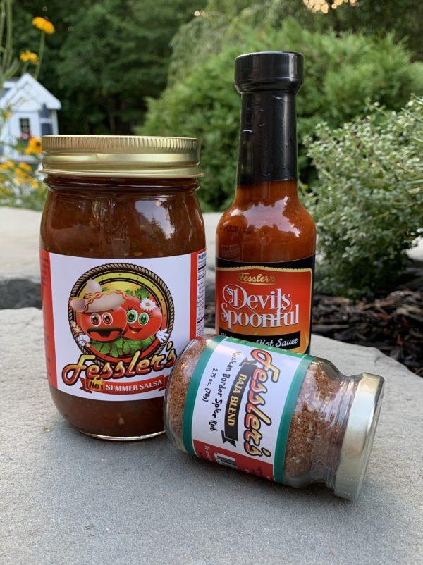 Habanero Hot Sauce-Michigan Made-Hot Salsa-Baja Spice blend